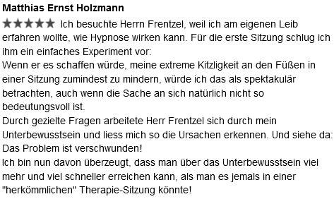 Rückmeldung Holzmann