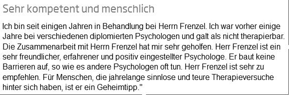 """Feedback """"Kompetent und menschlich"""""""